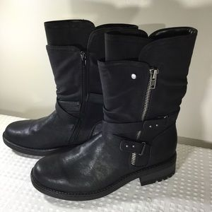 Carlos Santana Sawyer 2 NWOT Black Boots 11M